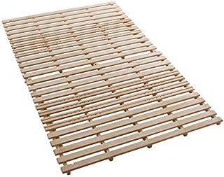 通気孔&U字カットで通気性アップ! 桐天然木製 折りたたみ すのこベッド シングル /すのこマット 二つ折り
