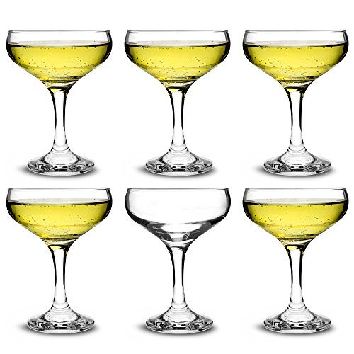 bar@drinkstuff Set da 6 ,calici da champagne in vetro e Cocktail 200 ml,in elegante confezione...
