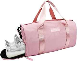 Ativafit Women Gym Bag with Shoes Compartment Sports Swim Travel Overnight Duffels Pink