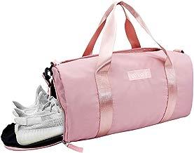 Ativafit Nylon Impermeable Bolsas de Gimnasio 46 * 23 * 22 cm Plegable de Viaje Durante la Noche Duffels Ligero Deportivo Deportes Camping Hombro Bolso para Hombres y Mujeres
