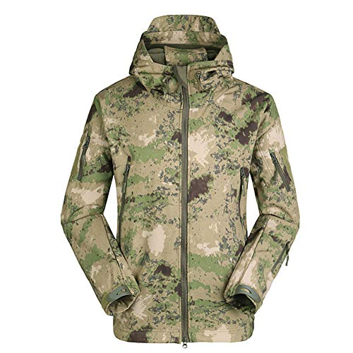 Heren Softshell jas Military Camo Warme overgangsjas windstopper windbreaker regenjas vrije tijd sport outdoor rits hoodie met capuchon trekking muur ski-jas jacht mantel werkkleding in de vrije natuur