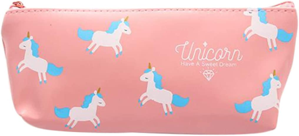 LGHH Cute Free shipping anywhere in the nation Unicorn Max 59% OFF Pencil Case Penc Stationery Bag Cartoon Zipper