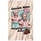 I Love Lucy Friends and Chocolate Fleece Throw Blanket (36'x58')