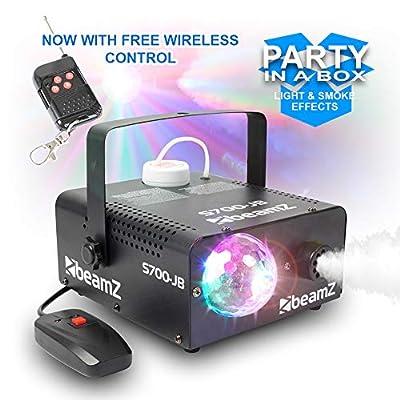 beamz Fog Smoke Machine LED RGB Jelly Ball Light Lighting Effect DJ Disco Party 700W
