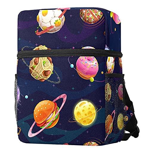 LORIES - Mochila infantil para niñas, color rosa, castillo y corona mágica, regalo de flores princesa, mochila ligera para niños y niñas, con bolsillos para botellas de agua Multicolor 09 Small