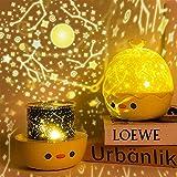 LED Nachtlicht Kinder, SYOSIN Nachttischlampe Baby Kinder Touch Lampe für Schlafzimmer, Nachttischlampen mit Gelbem & Weißem Licht & Touch Schalter, USB Batterie Baby-sicher Bruchsicher (Gold)