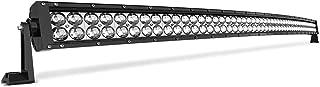 LED Light Bar 52Inch 4D 500W Curved Working Lights 45000Lumens Lamp Marine Boating Light IP68 WATERPROOF Spot & Flood Combo Beam Light Bar, 2 Years Warranty