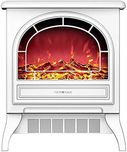 NaoSIn-Ni Estufa eléctrica Calentador de Chimenea, portátil Free Perse Electric Chimenea Insertar Estufa Calentador con Efecto de Llama de Registro Realista,Blanco