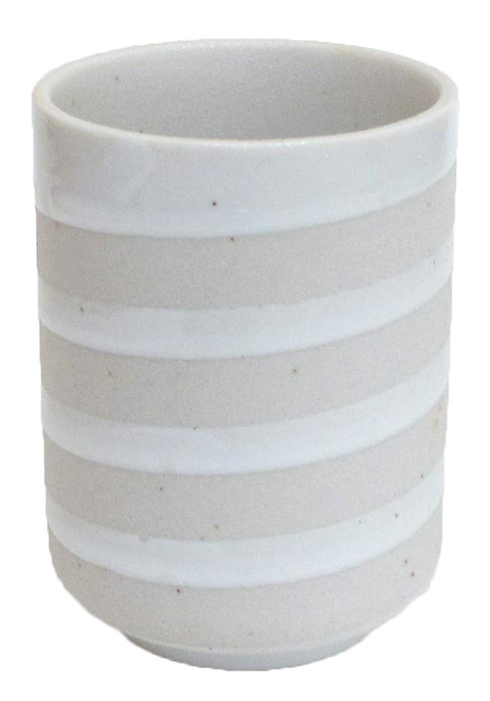 害擁する宝長湯呑み クリーム渦湯呑 業務用 美濃焼 7a554-41-1f