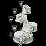 4 Tier Clear Spiral Cascade Wedding Cake Stand (STYLE 400-A)