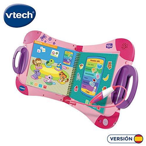 VTech Magibook Enseña a Aprender, ¿Qué Quieres Saber Hoy Vocabulario, Mates, Ciencias, Horas de Entretenimiento, Libros interactivos, Color Rosa, (80-602157)