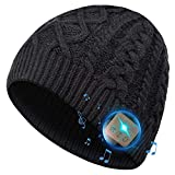 Bluetooth Beanie Hat, Stocking Suffer Bluetooth Hat, Gifts for Men and Women with Wireless Bluetooth 5.0, Winter Hat Built-in HD Stereo Speakers & Microphone, Unisex Music Beanie for Outdoor Sports