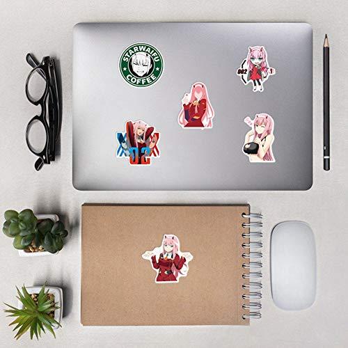 Sweet&rro17 100 stk Anime DARLING in the FRANXX Stickers Wasserdicht Vinyl Aufkleber fr Laptop, Notebook, Gepck, Skateboard