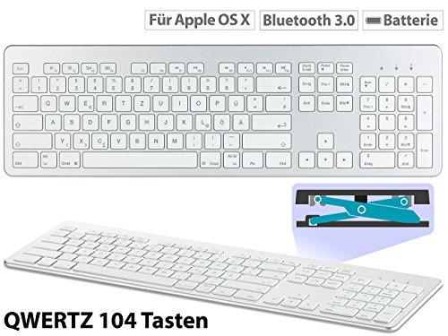 GeneralKeys Mac Tastatur: Tastatur für Apple macOS mit Bluetooth, Nummernblock & Scissor-Tasten (iMac Tastatur)