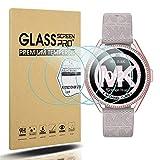 Diruite Michael Kors MKGO Gen 5E - Protector de pantalla para mujer (43 mm, dureza 2.5D, vidrio...