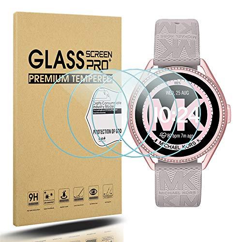 Diruite Michael Kors MKGO Gen 5E - Protector de pantalla para mujer (43 mm, dureza 2.5D, vidrio templado para Michael Kors MKGO Gen 5E 43 mm, antiarañazos, ajuste perfecto)