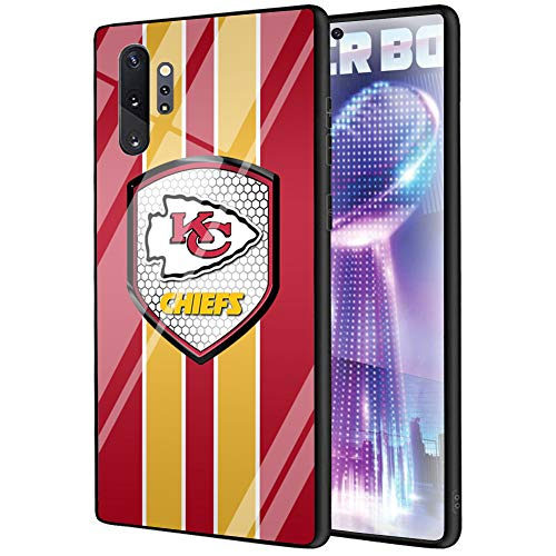 Galaxy Note 10 Plus Case Football Team Pattern Tempered Glass Smooth Scratch-Proof Protective Back Cover TPU Soft Anti-Collision Bumper for Samsung Galaxy Note 10 Plus68