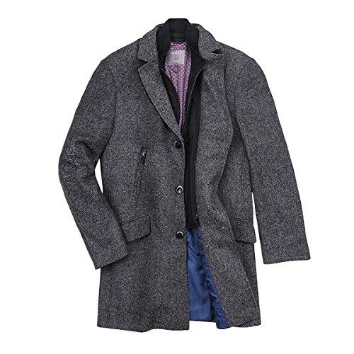 Gebr. Weis dunkelgrau melierter Mantel Übergröße, deutsche Größe:31