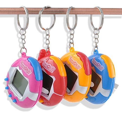 chungeng Interesante Pieza de Color Red Virtual aleatoria Digital Mascota e-tamagochi Mascota Retro Juego Divertido Juguete maniobrador máquina de Regalo(None Color)