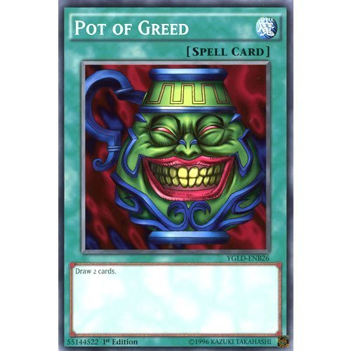Deckboosters YuGiOh : YGLD-ENB26 1st Ed Pot of Greed Common Card - ( Yu-Gi-Oh! Single Card)