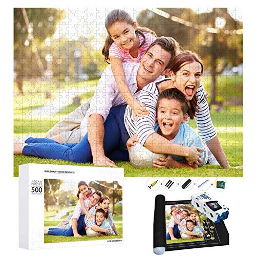 puzzle personalizado con foto 1000 500 300 120 Piezas,Rompecabezas de Madera Personalizable con tu Propia Imagen,Regalo para...