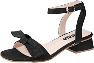 kaifongfu Summer Sandals for Women Open Top Shoes Casual Beach Sandals Solid Color Simple Flat Bottomed Buckle Shoes