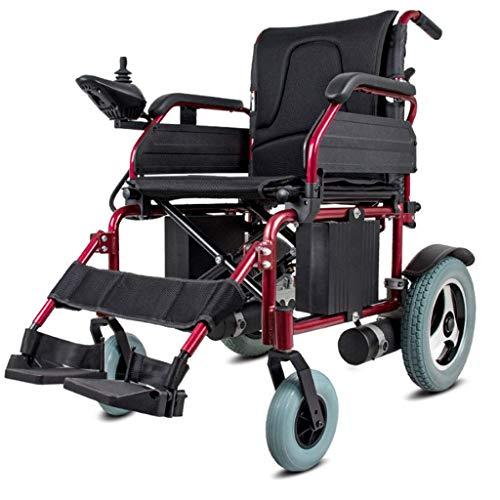 Sedia a rotelle elettrica, Sedia a rotelle motorizzata 320W * 2 Doppia Larghezza del Sedile del Motore 46 cm Batteria al Litio Rimovibile Adattabile a Una varietà marciapie20AH, Portatile Pieghevole
