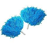6uds Animadora Pompones Danza Decoración Flores Accesorios para Fiestas Pompones Deportivos - 7 Colores ( Color : Azul )