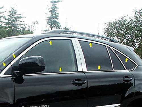 卸直営 QAA fits 2004-2009 Lexus Rx330 捧呈 14 Pa Piece Stainless Window Trim