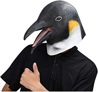 WNGCAR AU Penguin Adult Animal Masks Halloween Costume Party ( Color : Black , Size : One Size )