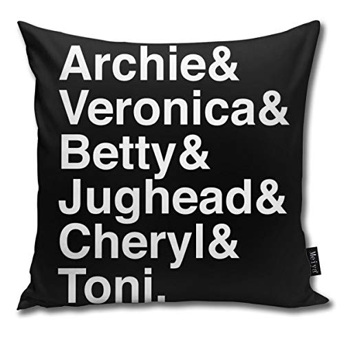 QMS CONTRACTING LIMITED Throw Pillow Cover Riverdale Characters (2) Decorative Pillow Case Home Decor Square 18x18 Inches Pillowcase
