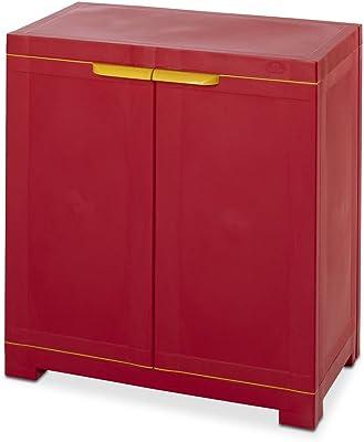 Nilkamal Freedom Mini Small (FMS) Plastic Storage Cabinet (Bright Red & Yellow)