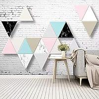 mzznz カスタム3Dモダンな三角形の壁タイル背景壁紙壁画-400X280Cm