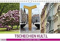 TSCHECHIEN KULT.L (Wandkalender 2022 DIN A4 quer): Kulturschaetze werden wiederentdeckt. (Monatskalender, 14 Seiten )