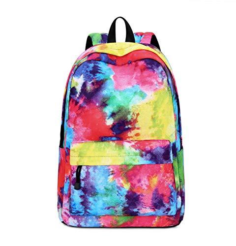 Joymoze Mochila para niño y niña para la Vuelta al Cole Linda Mochila Escolar Infantil con múltiples Bolsillos Siete Colores
