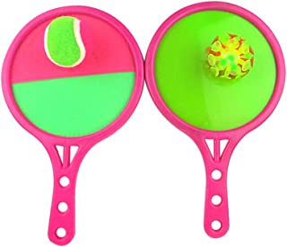 Garneck Toss and Catch Balls Game Dual Side Toss Catch Disc Paddles Sports Ball Parent-Child Interactive Game for Adults K...