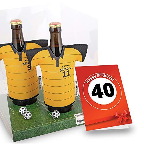 40. Geburtstag | Der Trikotkühler | Das Männergeschenk für Dresden-Fans | Langlebige Geschenkidee Ehe-Mann Freund Vater Geburtstag | Bier-Flaschenkühler by Ligakakao