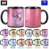 Heat Changing Constellation Mug 12 OZ Color Changing Mug with Gift Box for Women/Men-Virgo