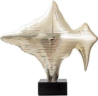 Statue Decorationinterieur Sculpture Rocaille Dorée dans Le Salon, Ornements Abstraits d'art De Vue De Montagne, Décoratio...