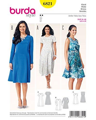 Burda Schnittmuster Kleid 6821