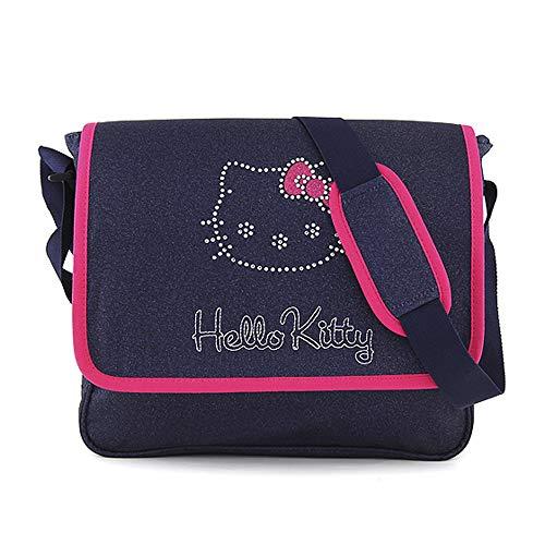 Target Shoulder Bag Hello Kitty Umhängetasche, 36 cm, Blau (Blu)