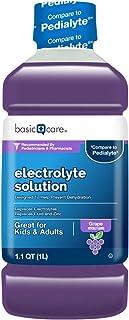 Basic Care Electrolyte Solution, Grape, helps prevent dehydration, 33.8 Fluid Ounces