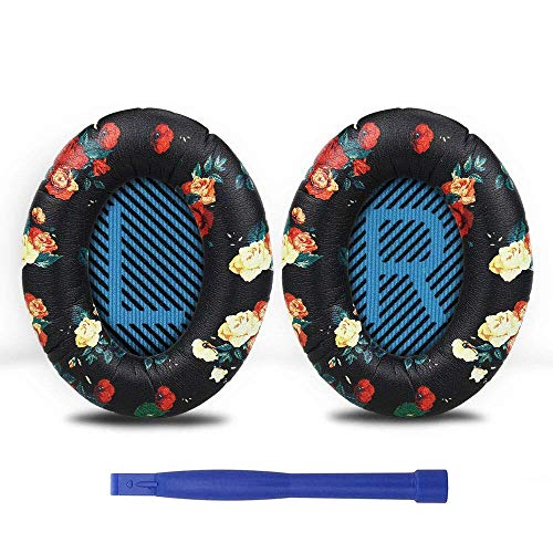 Ear Pads, 1Pair Replaceable Headphone Pad for Bose QuietComfort QC2 QC15 QC25 QC35 SoundLink SoundTrue AE2 AE2i AE2w Headphones - (Color: Colorful)