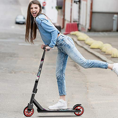 LIYANJJ Pro Scooters, Patinete de Acrobacias para niños de 10 años en adelante, niños y niñas de Nivel intermedio, el Mejor Patinete de Trucos para Trucos de Estilo Libre
