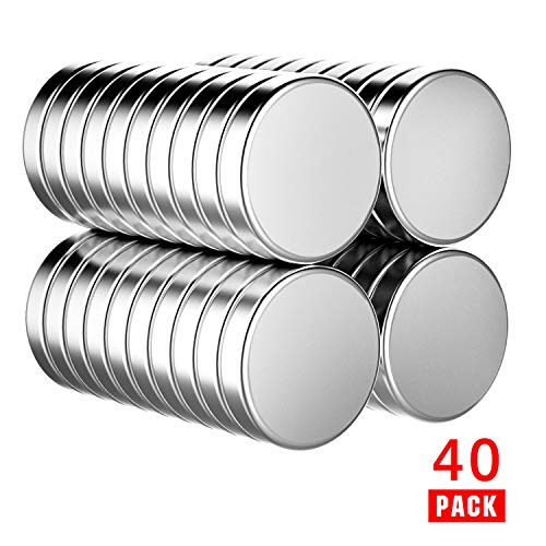 walolo 40 Pack Extra Strong Magnets 6mm X 3mm Grade N45 Neodymium Magnet for