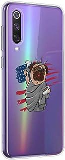 Oihxse beschermhoes voor LG V40 van zachte siliconengel, TPU, Bumper Hybrid [Ultra Slim] [krasbestendig] hond, motief besc...