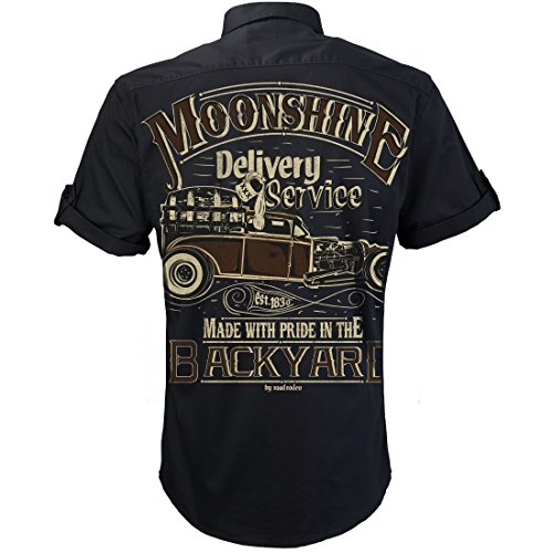 Worker Shirt, Hemd, Rock'n'Roll, XXX, Schnaps, Moonshine Delivery