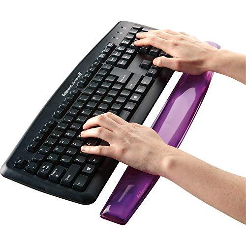 Fellowes Gel Crystals Wrist Rest, Purple (91437)