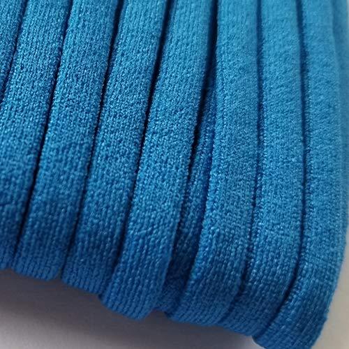 Blue Elastic String for DIY Masks Soft Sewing Elastic Band Cord Rope Straps Knit Flat Stretchy Braided Fabric 1/4 Inch 20YARD
