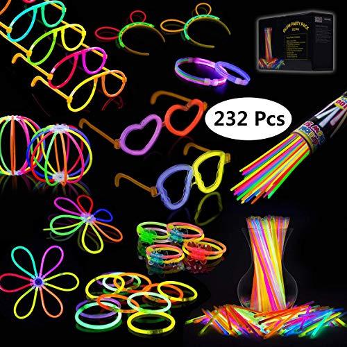 IREGRO Knicklichter 100 Stücke, Leuchtstäbe, Glow Sticks, Neon Leuchtstäbe Party Pack, für Hochzeiten Partys Geburtstage Festival